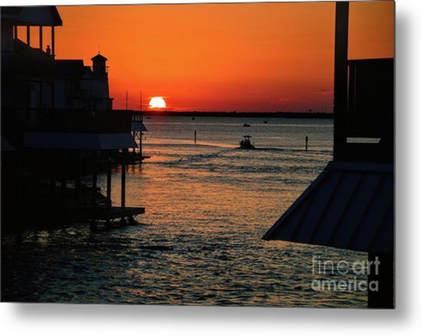 Bayou Vista Sunset Metal Print