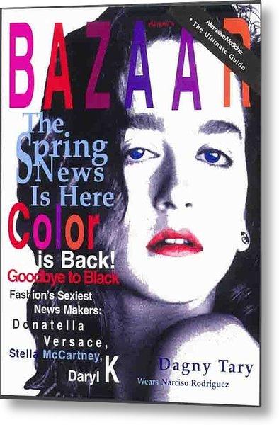 Bazaar Magazine Cover Metal Print