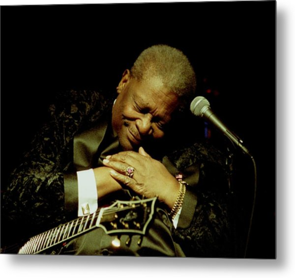 Bb King - Straight From The Heart Metal Print by Bob Guthridge