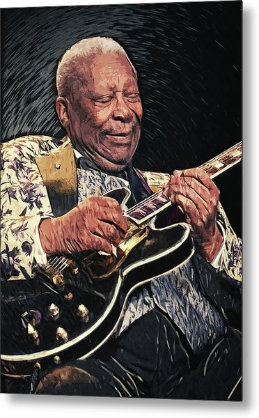 B.b. King II Metal Print