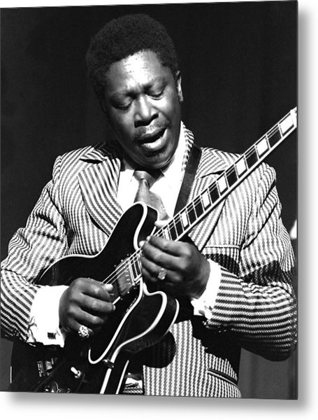 Bb King - Strummin' Metal Print