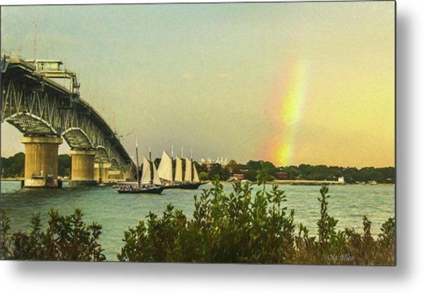 Be A Rainbow Metal Print