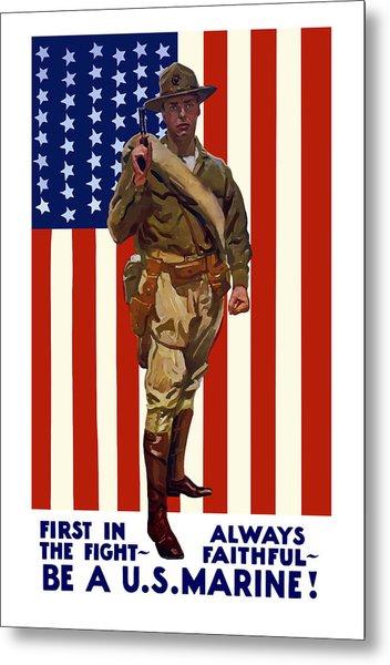 Be A Us Marine Metal Print