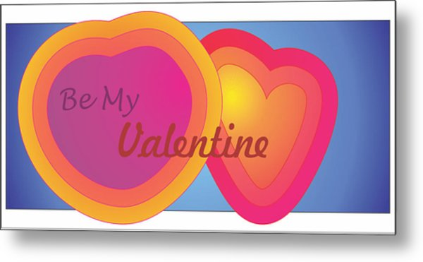 Be My Valentine Card Metal Print