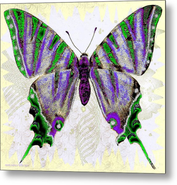 Be Who U R Butterfly Metal Print