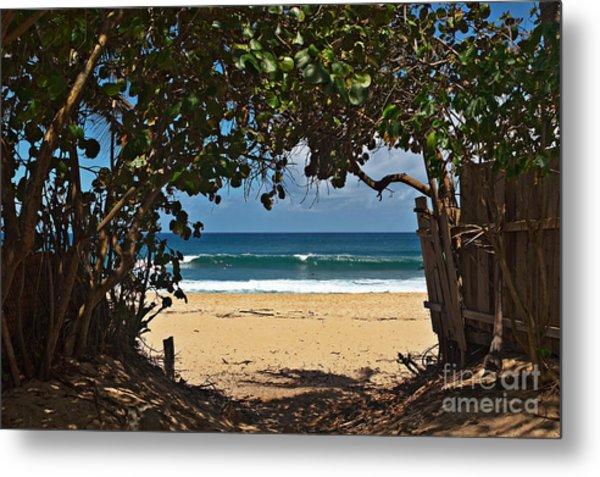 Beach Access Pupukea Metal Print
