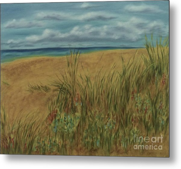 Beach And Clouds Metal Print