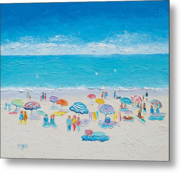 Beach Art - Fun In The Sun Metal Print