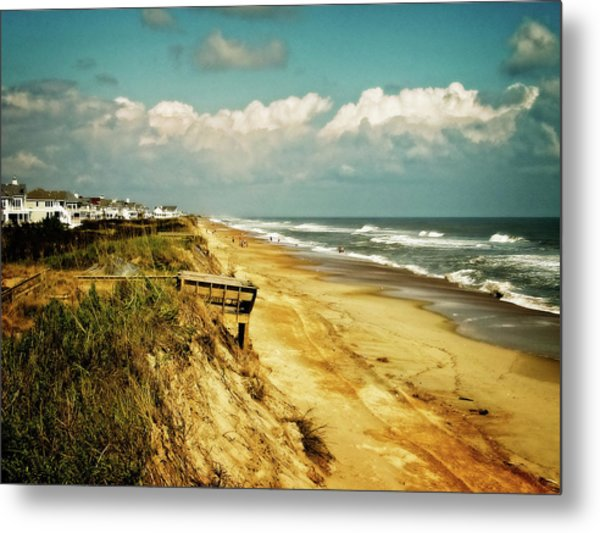 Beach At Corolla Metal Print