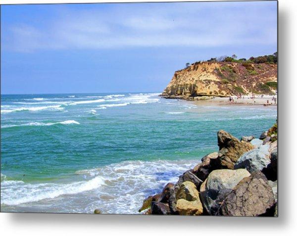 Beach At Del Mar, California Metal Print