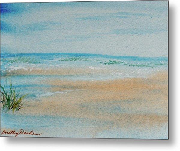 Beach At High Tide Metal Print