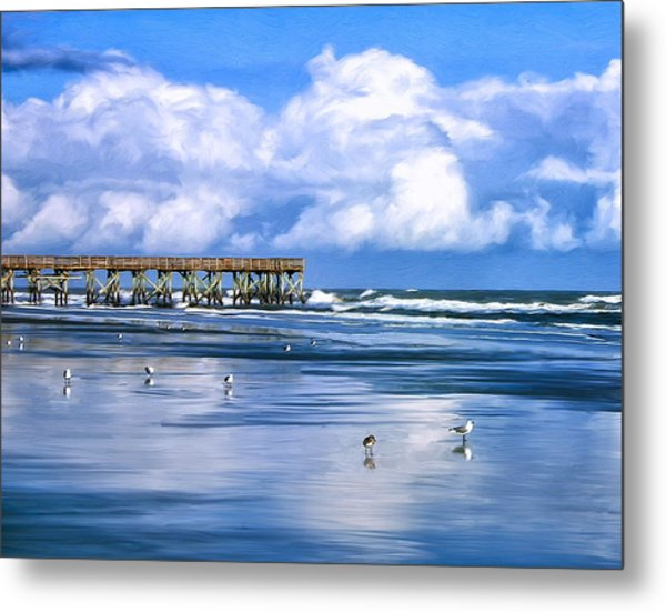 Beach At Isle Of Palms Metal Print