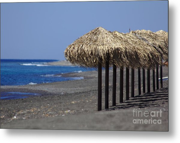 Metal Print featuring the photograph Beach At Perivolos by Jeremy Hayden