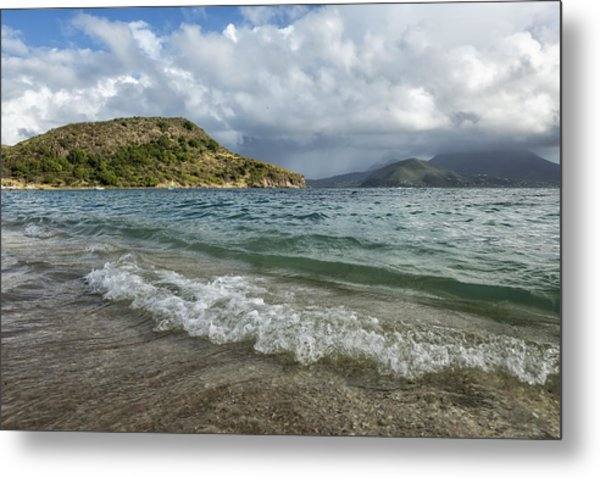 Beach At St. Kitts Metal Print