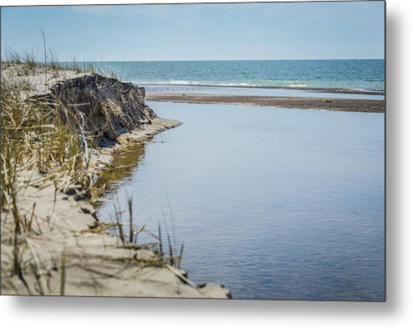 Beach At Warren Dunes Metal Print