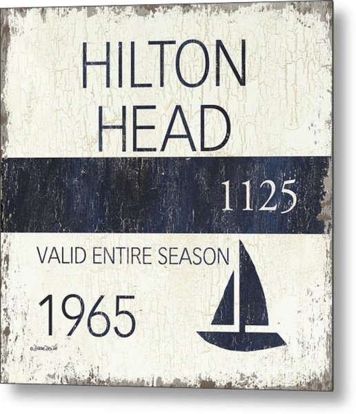 Beach Badge Hilton Head Metal Print