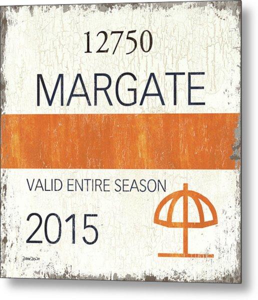 Beach Badge Margate Metal Print