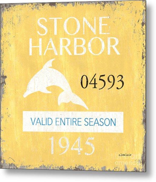 Beach Badge Stone Harbor Metal Print