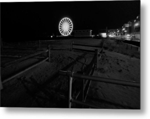 Beach Boardwalk Amusement Metal Print