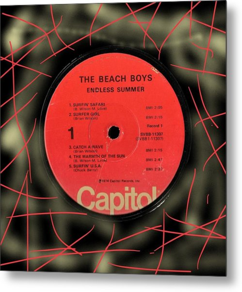 Beach Boys Endless Summer Lp Label Metal Print