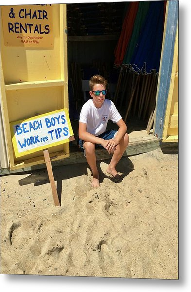 Beach Boys Work For Tips Metal Print