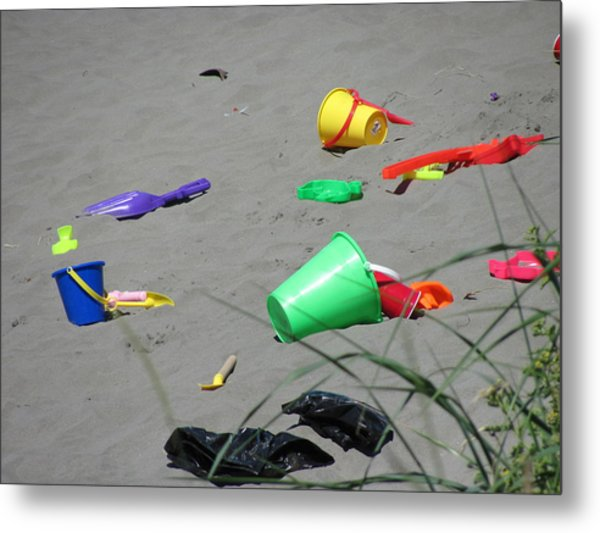 Beach Buckets Metal Print by Gregory Smith