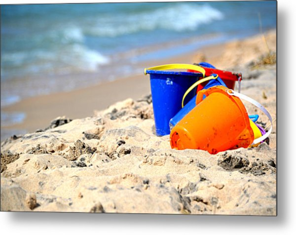 Beach Buckets Metal Print