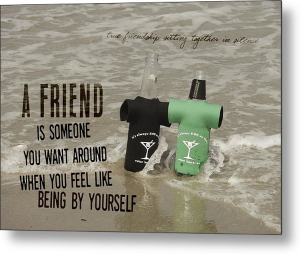 Beach Bums Quote Metal Print by JAMART Photography