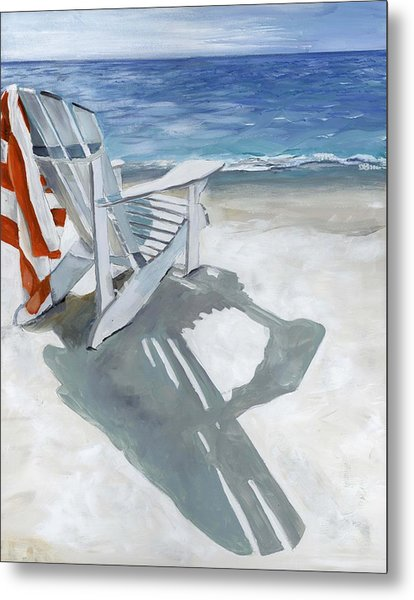 Beach Chair Metal Print