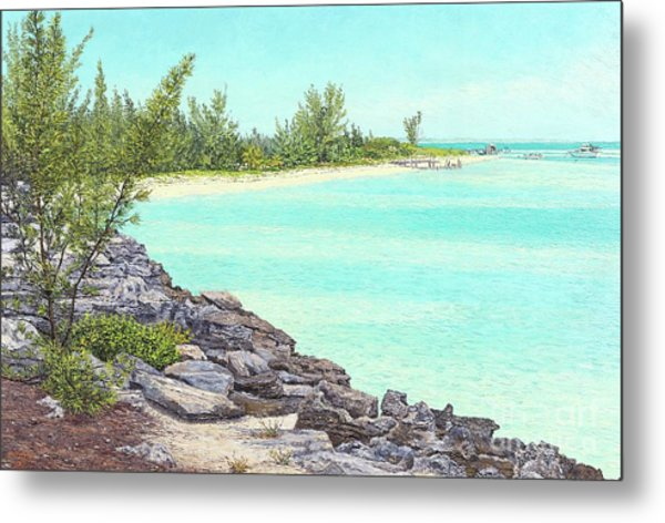 Beach Cove Metal Print