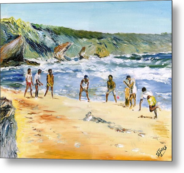 Beach Cricket Metal Print