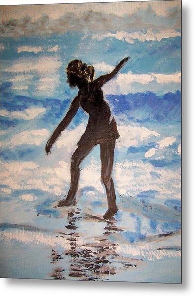 Beach Dancer Metal Print by Ann Whitfield