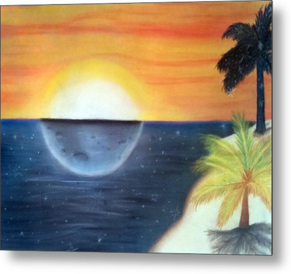 Day Night Beach Metal Print by Tabitha Lemus