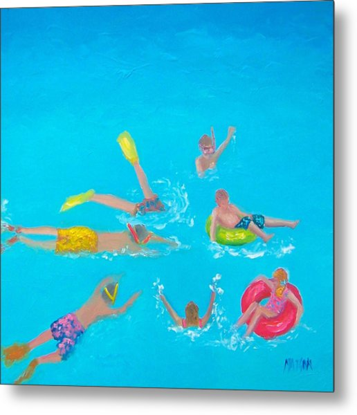 Beach Decor 'holiday Splash' By Jan Matson Metal Print