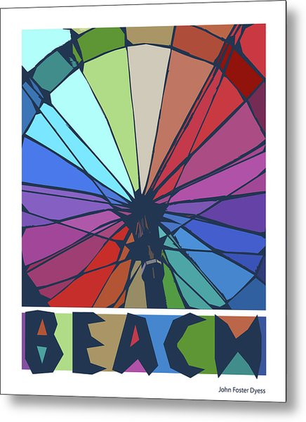 Beach Design By John Foster Dyess Metal Print