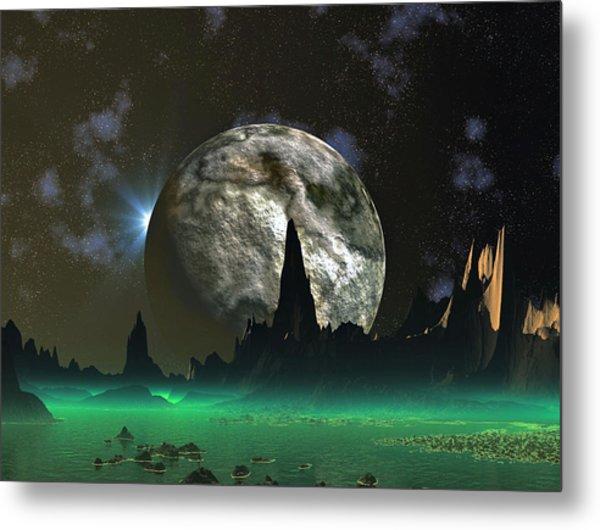 Beach Eclipse Metal Print by David Jackson