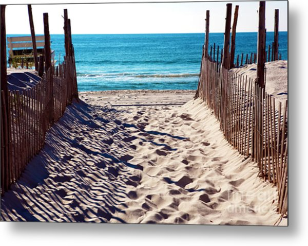 Beach Entry On Long Beach Island Metal Print