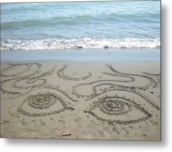 Beach Eyes Metal Print