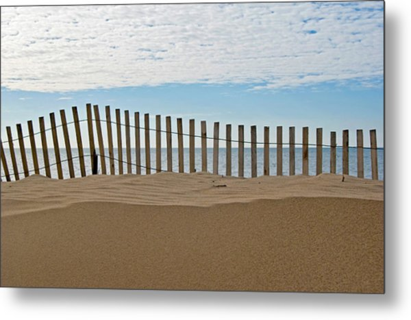 Beach Fence Metal Print by Maria Dryfhout