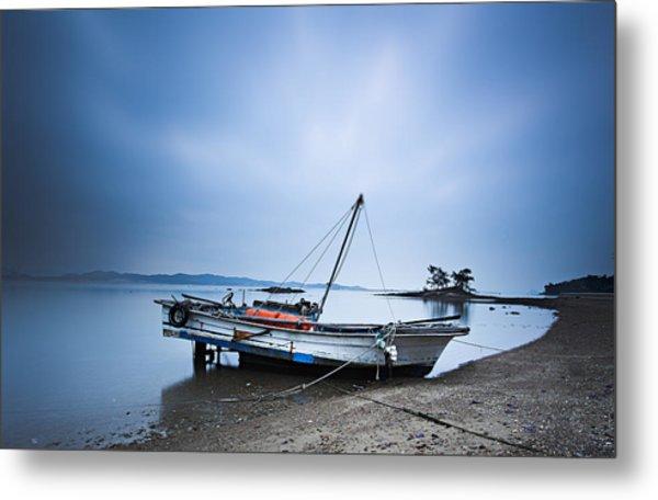 Beach Fishing Boat Metal Print