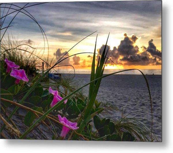 Beach Flowers Metal Print