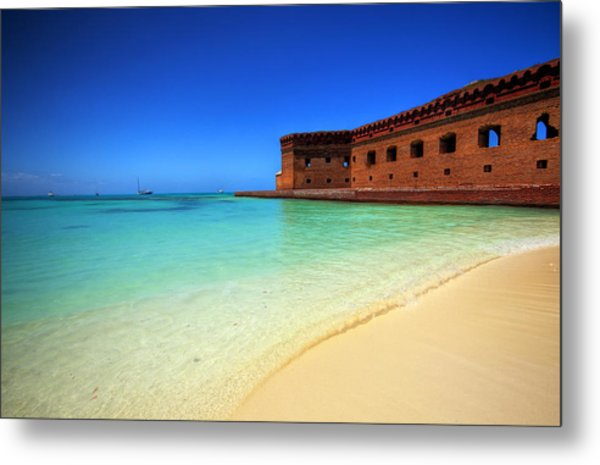 Beach Fort. Metal Print
