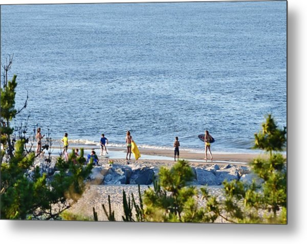 Beach Fun At Cape Henlopen Metal Print