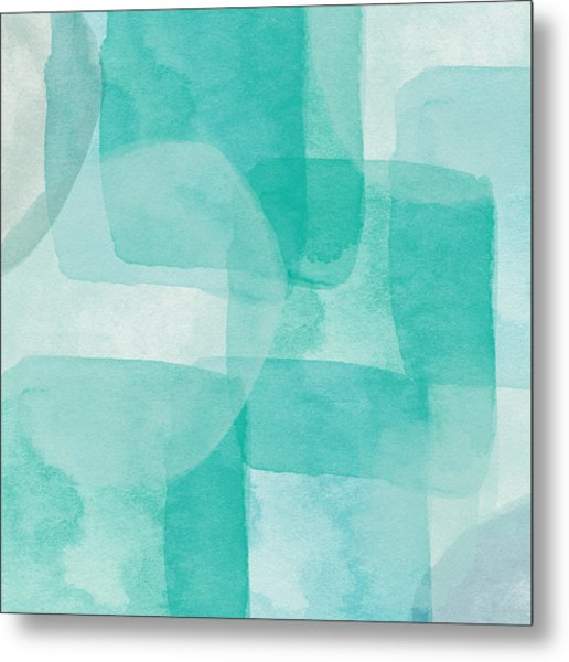 Beach Glass- Abstract Art By Linda Woods Metal Print