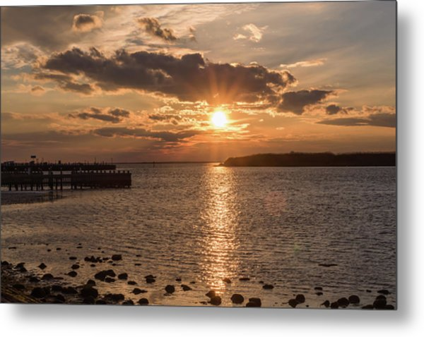Beach Haven Nj Sunset January 2017 Metal Print