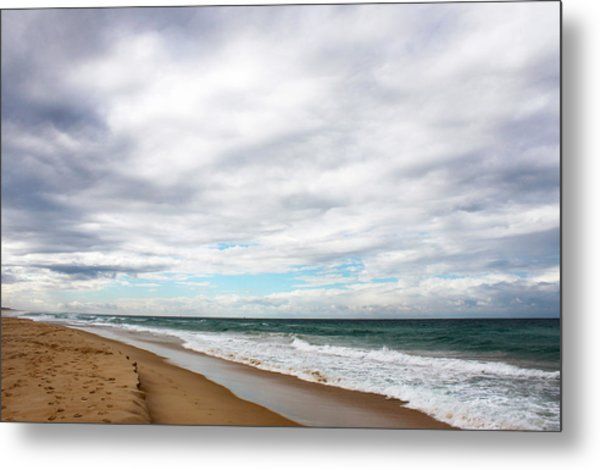 Beach Horizon - Surfer's Paradise Metal Print