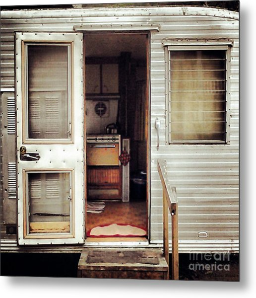 Metal Print featuring the photograph Camping Trailer by Susan Parish