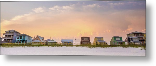 Metal Print featuring the photograph Beach House Sunset by Whitney Leigh Carlson