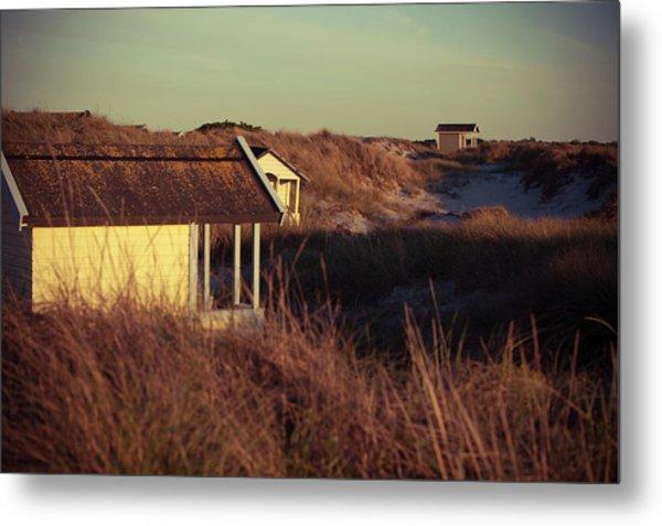 Beach Houses And Dunes Metal Print