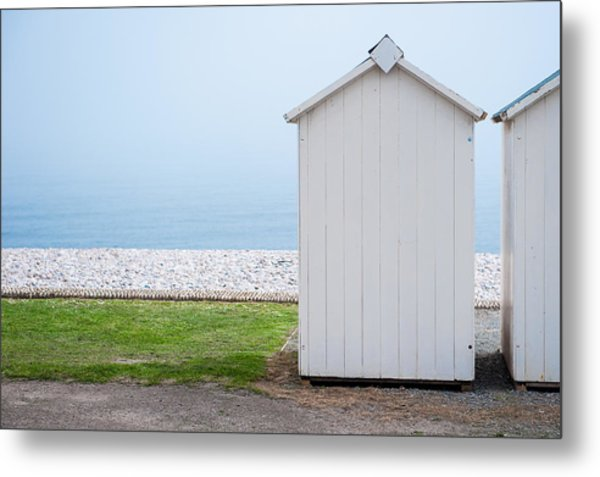Beach Hut By The Sea Metal Print